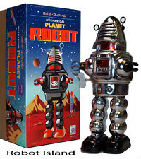 Chrome Planet Robot Tin Toy Windup Robby the Robot