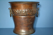 Antique Bronze Patinated Copper Ice Bucket, Inscribed 'ACN 14.5.1910+14.11.1922