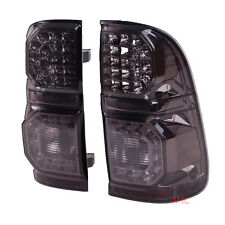 Fit Toyota 05-15 Hilux Vigo Sr Mk7 Kun Tgn Tail Light Tail Lamp Led Smoke Black