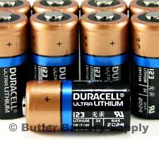 10 x 123 Duracell 3V Ultra Lithium Batteries (CR123, DL123 ,EL123,Medical,Photo)
