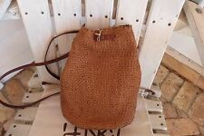 Henry Cuir Beguelin Artisan Sample Woven Leather Backpack/Shoulder bag