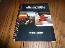 2003 Chevrolet Full Throttle Launch training Event Book for Sales Staff - Spiral