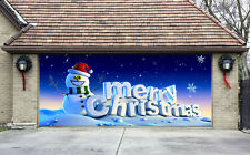 Christmas Garage Door Covers 3D Banners Outside House Decorations Billboard G81