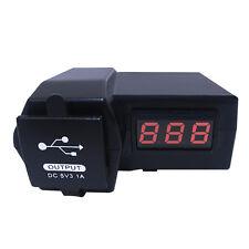 12V-24V Dual USB Motorcycle ATV GPS Voltage Voltmeter Power LED Socket Charger