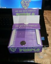 PURPLE CLEAR KING SIZE ROLLING PAPERS 50 EXTRA SLIM PAPERS $2.50 EACH PACK!