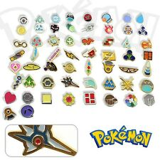 Anime Pocket Monster Pokemon Gym Badges Set of 58 Metal Pins Cosplay Collection