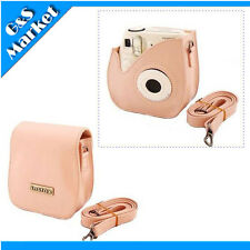 Instant Camera Leather Case Bag Weak Pink for Fuji Instax Mini 7S  Polaroid 300