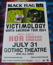 BLACK FLAG 2014 North American Tour @ the Gothic - Denver Show Flyer /Gig Poster