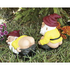 LATEX MOULDMOLDS FOR A PAIR OF MOONING AND  SQUATTING GNOMES