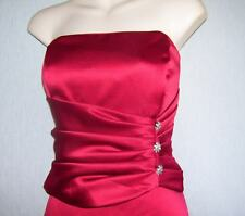 Bari Jay Womens 11 Dress Cranberry Red Juniors Rhinestones 2 Pc Bridesmaid Gown