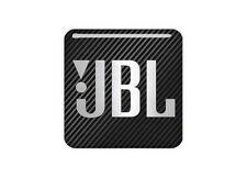 "JBL Black 0.75""x0.75"" Chrome Effect Domed Case Badge / Sticker Logo"