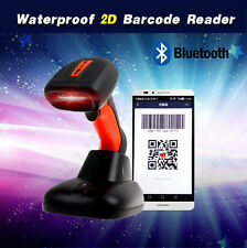 New Wireless Bluetooth 2D QR Barcode Scanner Handheld Portable+Charge Base A24
