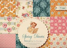 SPRING DIARIES, TILDA PAPER PAD 24 DOUBLE SIDED SHEETS, 4 OF EACH, BRAND NEW