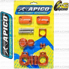 Apico Bling Pack Orange Blocks Caps Plugs Nuts Clamp Cover For KTM SX/F 350 2015