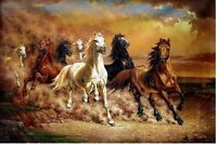 "MODERN HUGE WALL ART OIL PAINTING ON CANVAS""Majestic Horse""(no framed)"