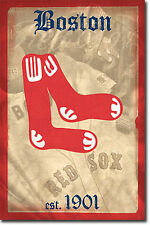 BOSTON RED SOX - RETRO LOGO POSTER - 22x34 SHRINK WRAPPED - 1901 MLB 1371