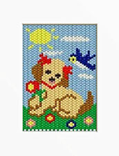 Little Puppy Beaded Banner Pattern