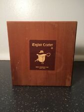 Vintage Antique English Leather Wooden Gift Set Dovetailed Box 1950's-1960's