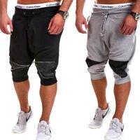 Herren Shorts Jogginghose Trainingshose Kurze Capri Hose Sweat-Bermuda NEU
