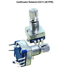 1 x CODIFICADOR ROTATORIO CON SWITCH EJE PULSADOR EC/11 - ROTARY ENCODER