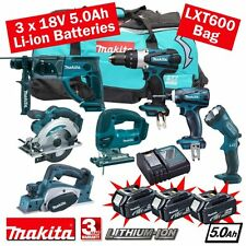 MAKITA 18 Volt Cordless 5.0 Ah LI-ON 7 PEZZI KIT COMBO mak18vkit18