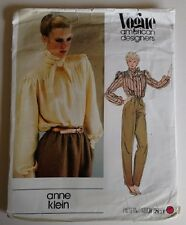 Vintage Vogue 2611 American Designers Anne Klein Sewing Pattern Bow Blouse