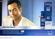 PUBLICITE ADVERTISING 085  2005  NIVEA MEN  soins de la peau homme ( 2 pages)