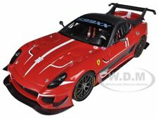 ELITE FERRARI 599XX 599 XX EVO #11 RED 1/18 DIECAST MODEL CAR BY HOTWHEELS BCJ91