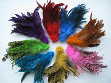 8 Packs 400 PC Rooster Saddle Hackle Grizzly Schlappen Feathers 4 Fly Tying-5-7""