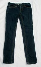 Mossimo Denim Jeans Skinny Low Junior Sz 1 S Dark Cotton Blend China Inseam 30