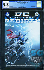 DC UNIVERSE REBIRTH #1 - FIRST PRINT - CGC 9.8 - SOLD OUT - DC COMICS RELAUNCH