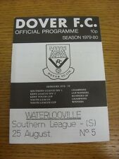 25/08/1979 Dover v Waterlooville  . Footy Progs (aka bobfrankandelvis) are pleas