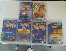 LOT OF 6 HOT WHEELS CHUCKE CHEESES CARS IN PROTECTO PACKS L$$K!!!