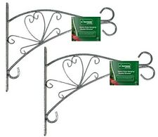 """2 x 12"""" HEAVY WALL MOUNTED METAL BRACKET FOR HANGING FLOWER BASKETS HBB12DB"""