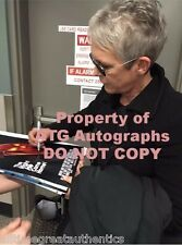 JAMIE LEE CURTIS SIGNED HALLOWEEN MOVIE 8X10 PHOTO W/COA LAURIE STRODE PROOF