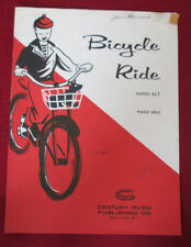 Bicycle Ride by Hansi Alt Piano Solo Sheet Music 1958