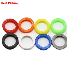 Cute 8pcs Hollow Silicone Key Cap Covers Topper Set Key Ring With Bly Braille