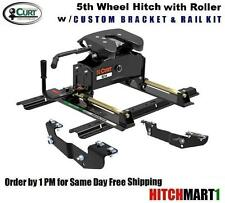 16K CURT A16 5TH FIFTH WHEEL TRAILER HITCH PACKAGE w ROLLER  16521/16418/16204