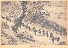 0833) WW2 GRECIA COLONNA DI PRIGIONIERI GRECI.