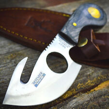 """7"""" Wood Hunting Survival Skinning Fixed Blade Knife Full Tang Army Bowie"""
