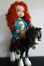 "Disney Animator's Collection Princess 16"" Doll MERIDA w horse ANGUS, BRAVE"