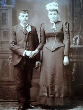 Antique Cabinet Photo Newlyweds Marriage - Buss Portrait Studio Fond Du Lac WI