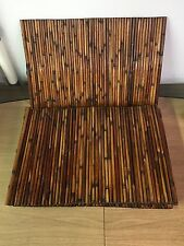 Set 7 Vintage McM Handmade Original Tiki Bamboo Placemats Trays Indoor Outdoor