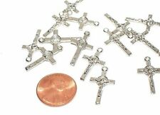Lot 12 St. Saint Benedict small Crucifixes Cross Rosary Bracelet making pendant