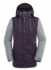 2016 NWT WOMENS VOLCOM STAVE SNOWBOARD JACKET $180 S purple colorblocked sleeves