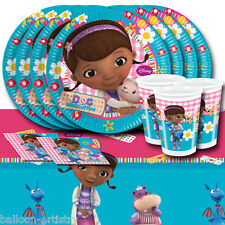 Disney Doc McStuffins Children's Birthday Complete Party Tableware Pack For 16