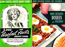 TWO Culinary Arts Institute Cookbooks Facts about Food & Body Building Dish Kids