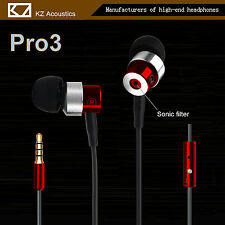KZ Pro 3 Hi-Fi In-Ear Ohrhörer Premium Super Bass Sound, Earphone Headset rot