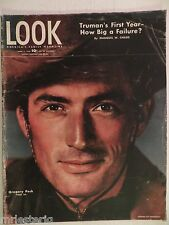 1946 April 2 Look Magazine Truman's First Year  VINTAGE ADS Gregory Peck