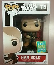 Funko Pop Vinyl Convention Exclusive sdcc 2016 Star Wars Han Solo w/Bowcaster